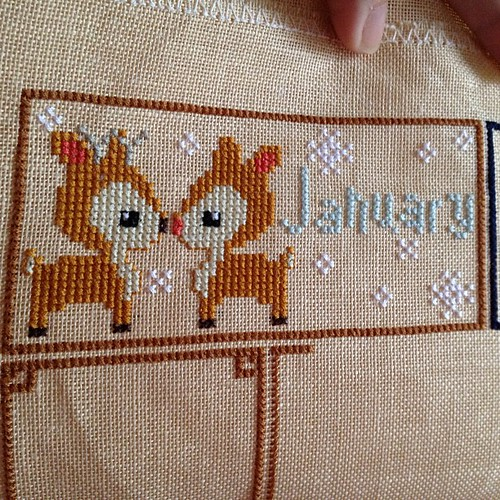Finished with January! #woodlandsampler