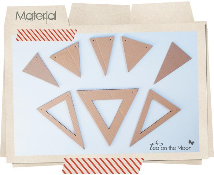 Guirnalda de cartón cumpleaños original birthday garland material 0