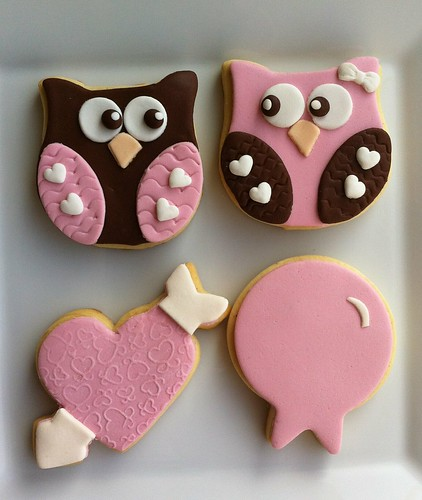 owl cookies with love