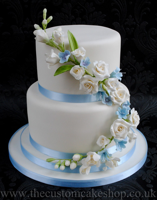 Sky Blue Cake Images : Wedding Cake - Sky Blue and Ivory Flickr - Photo Sharing!