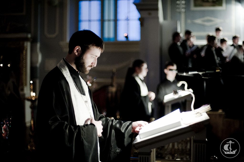17 января 2013, Вечерня, малое повечерие и утреня накануне Навечерия праздника Богоявления