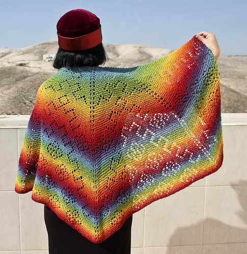 Rainbow Garden Path Shawl