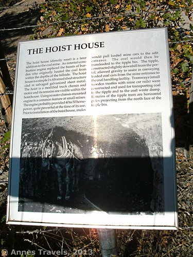 The Hoist House Sign at Aladdin Tipple Historical Interpretive Park, Wyoming