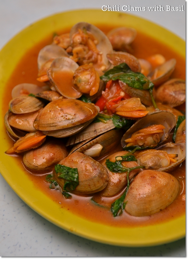 Chili Clams with Basil
