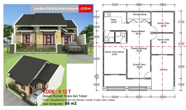 Desain Rumah Tropis Dari Tuban Jasa