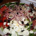 Suzie's equally beautiful salad nicoise