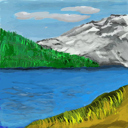 Mountains and Lake, Final version