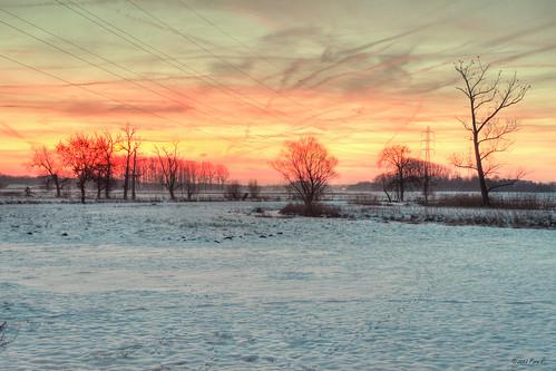 morning winter snow landscape sneeuw hdr ochtend landscap keerbergen dijlevallei dijlestraat