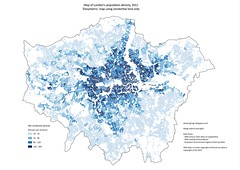 Dasymetric map of population density, London 2011