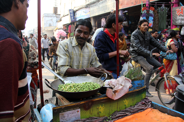 Green peas in Varanasi, India