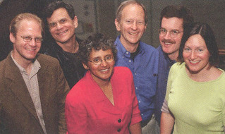 The 2002 Wig Award recipients: Daniel Birkholz, William Banks, Cecilia Conrad, Jerry Irish, David Menefee-Libey and Katherine Hagedorn