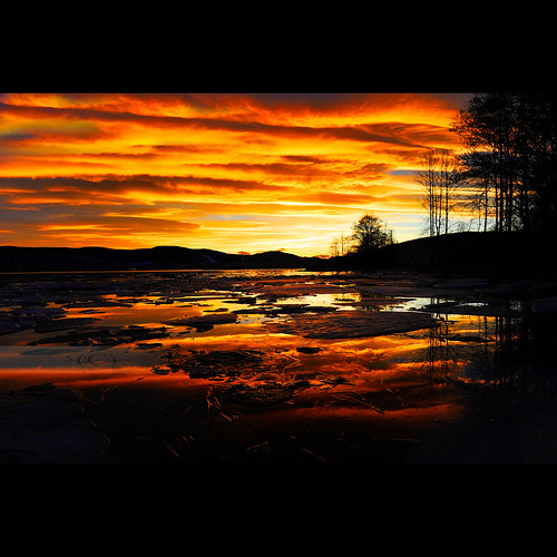 sunset reflection ice beach colors fire strong gilhusodden 2470mmf28g gilhus