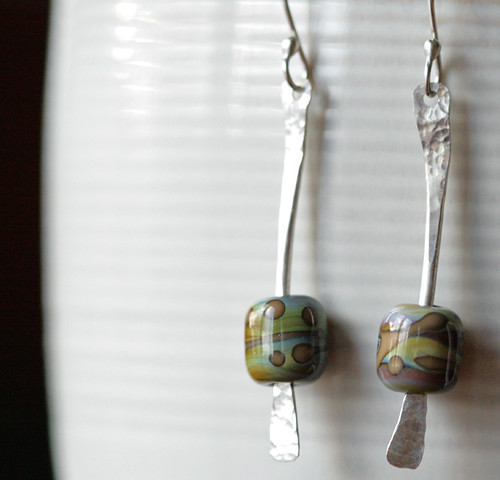 AJE Earring Challenge week 3/52 jen cameron glass addictions