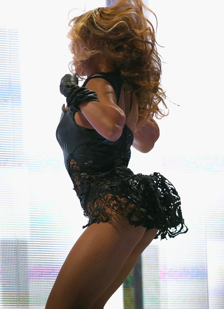 Beyonce Knowles has powerful, but nice thighs, and legs.