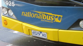Bus number plate