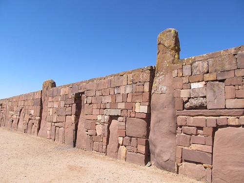 Tiwanaku: mur du Kalasasaya