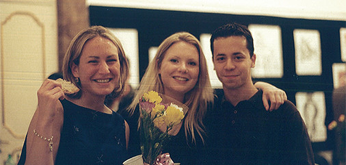 Rome art exhibition reception, spring 1999.  photo / Anna Rita Flati