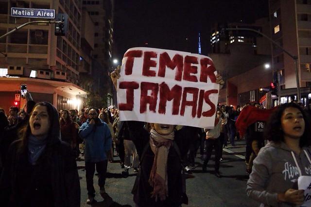Só em São Paulo, três atos contra Temer ocorreram nesta semana - Créditos: José Eduardo Bernardes / Brasil de Fato