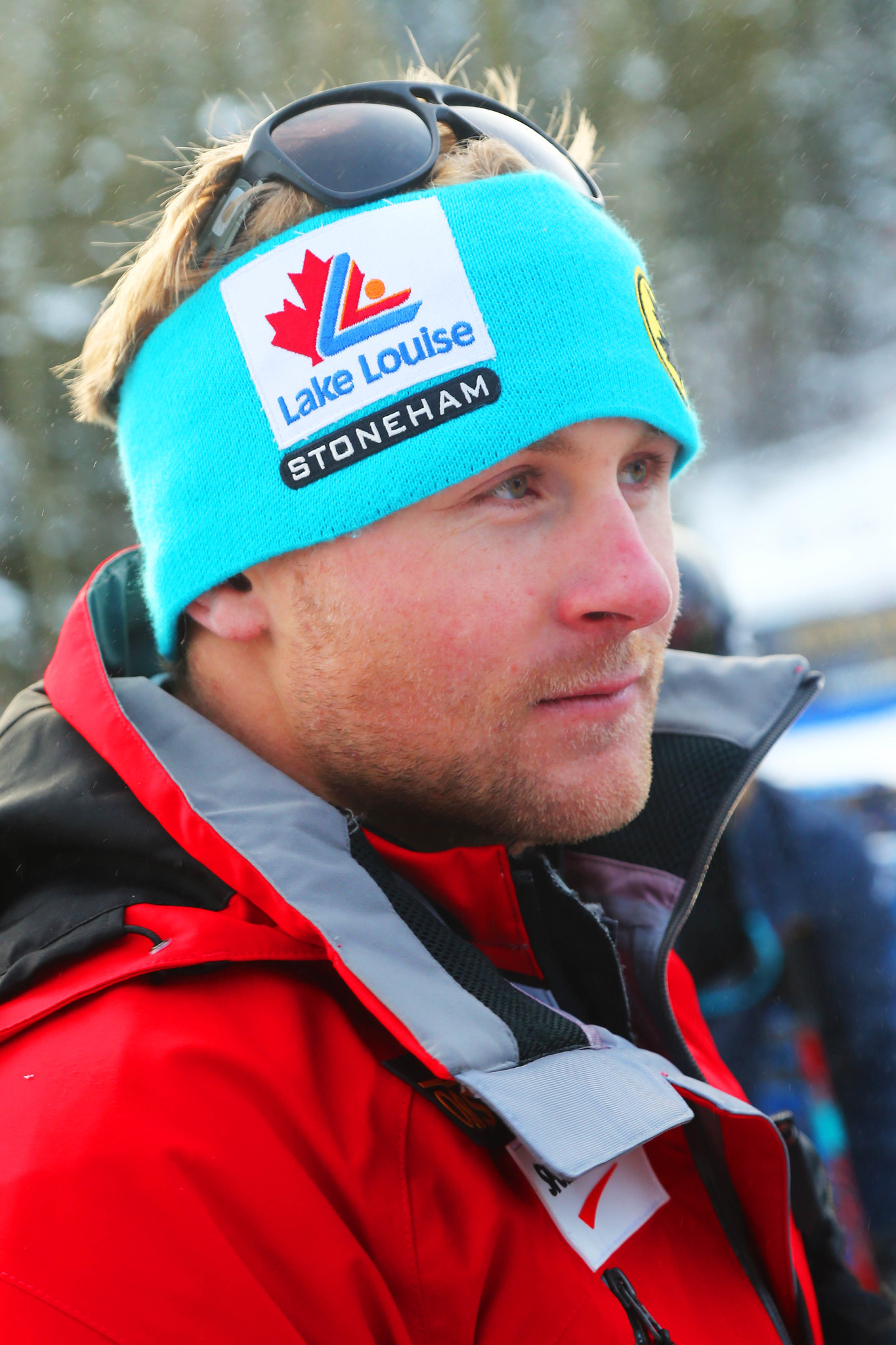 Brady Leman at the inaugural Nakiska ski cross World Cup.