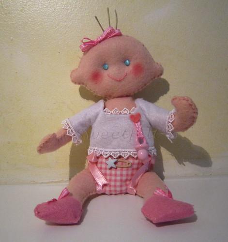 ♥♥♥ Outra bonequinha para a Audrey... by sweetfelt \ ideias em feltro