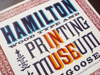 Hamilton Wood Type & Printing Museum Wayzgoose 2012 letterpress poster