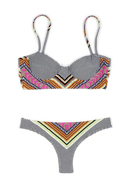 Fantasy print bustier bikini