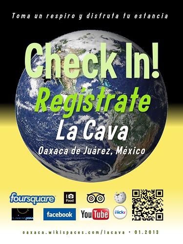 La Cava Check In! Regístrate Oaxaca 01.2013