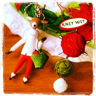 A couple of my favorite #Christmas #ornaments  #knit #knitting #yarn #knitwit #crafting #knitstagram #knittingbag #reindeer