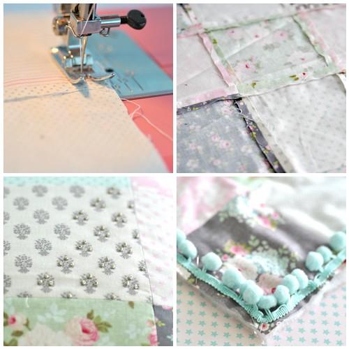 Patch work cushion steps 5-8