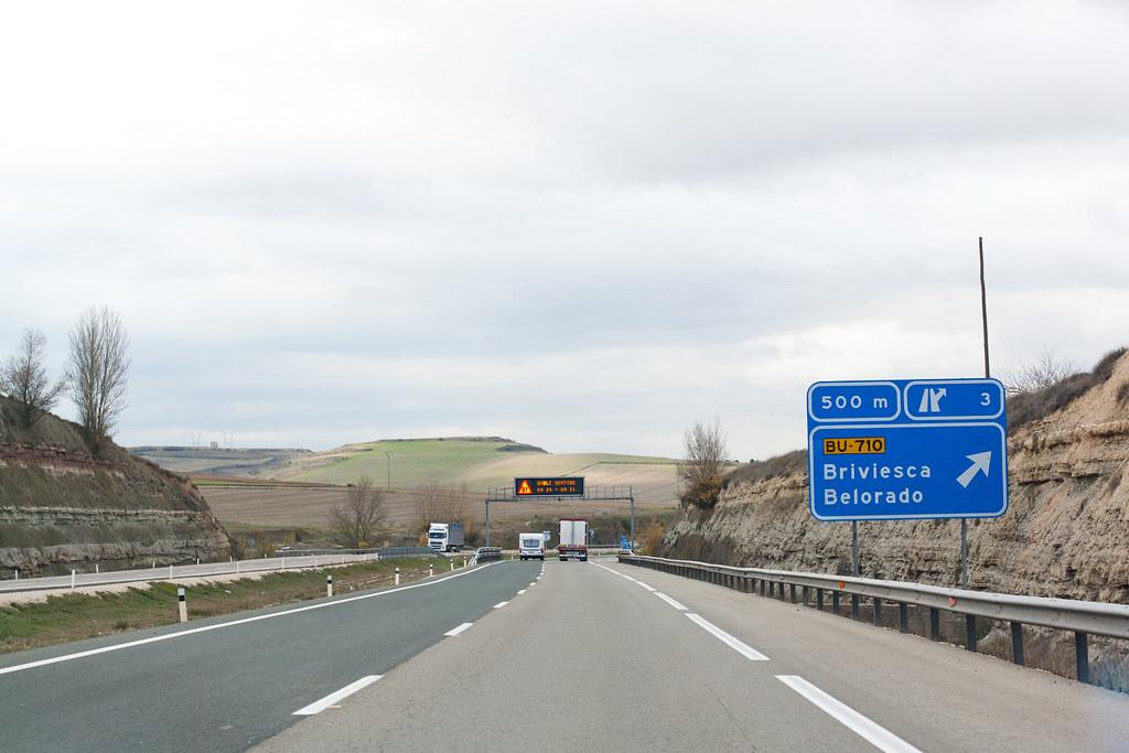 Estrada para Burgos - Espanha