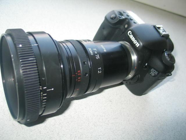 Canon 7D with lens 35BAS23 Nikon 1
