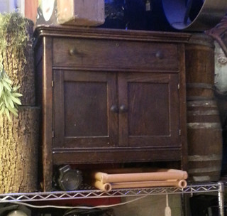Small-Medium Dark Wooden Chest / Cabinet, Prop Rental - ShopStudios.com
