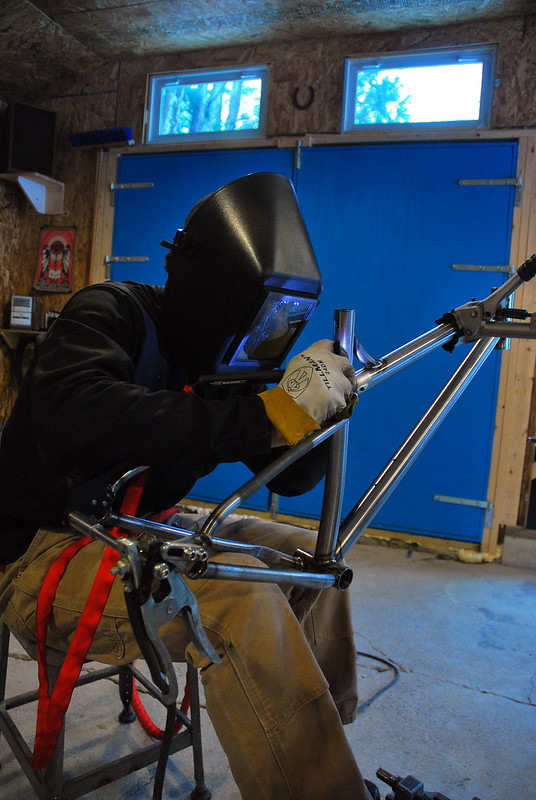 Welding Patrick's Seat Stay Bridge