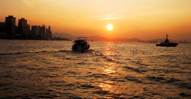 Hong Kong Sonnenuntergang