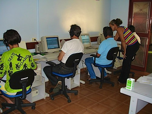 Students learning computer skills at AAVE