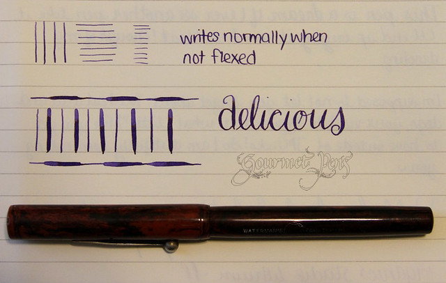 Waterman 12 Eyedropper Writing Sample