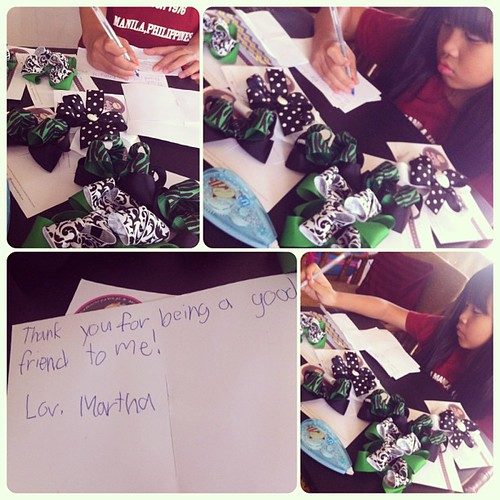 Excited to give these to her BFFs. Thanks again @daintyashley! #PhotoShake