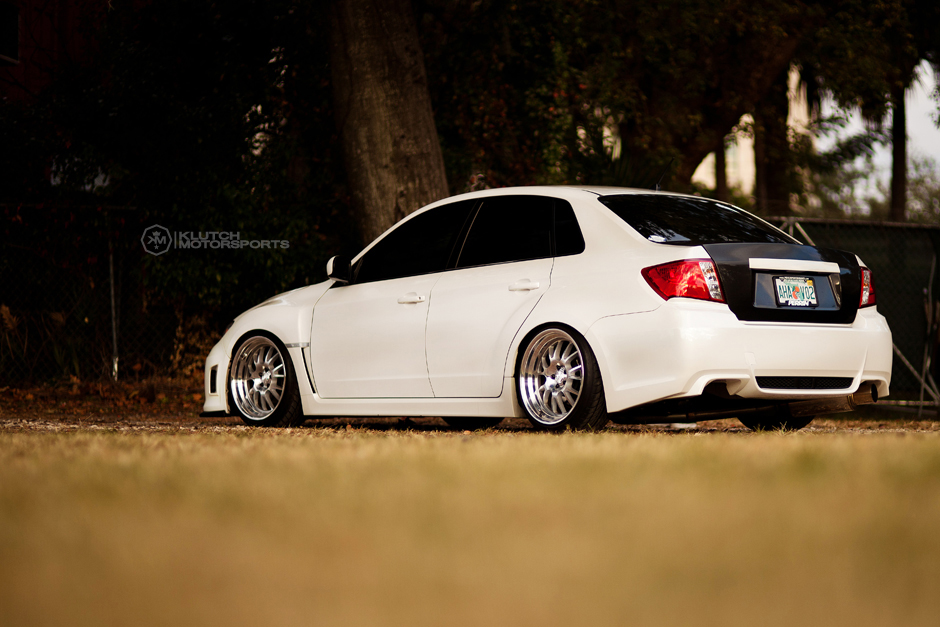 WRX 2012 subaru klutch wheels sl14 18x9.5 step lip stanced slammed poke hella flush camber stance