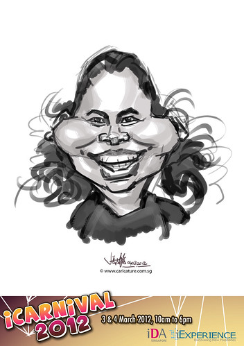 digital live caricature for iCarnival 2012  (IDA) - Day 2 - 73