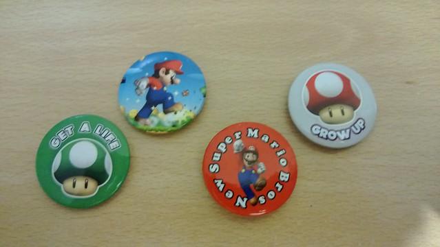 New Super Mario Bros Badges