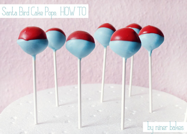 Santa Hat Birdie Cake Pops: Tutorial