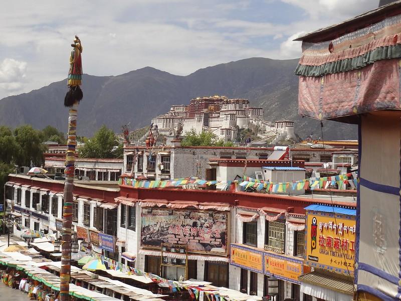 Palácio Potala em Lhasa no Tibete