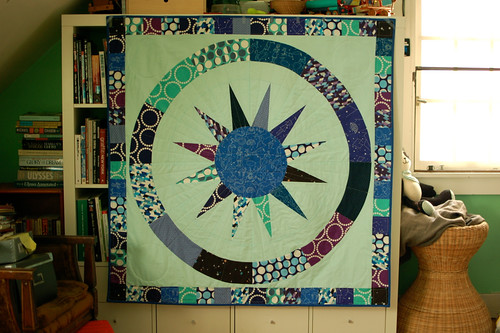 """it's in the stars"" quilt using Lizzy House's Constellations"