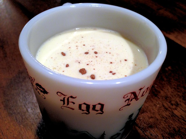 Egg nog made from scratch. Tasted sooo good with rum!