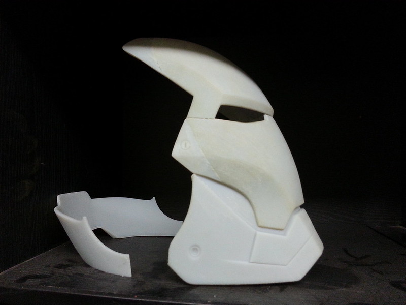 Helmet Rear Bottom End Printed