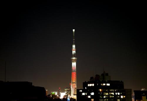 東京スカイツリー特別ライティング「キャンドルツリー」