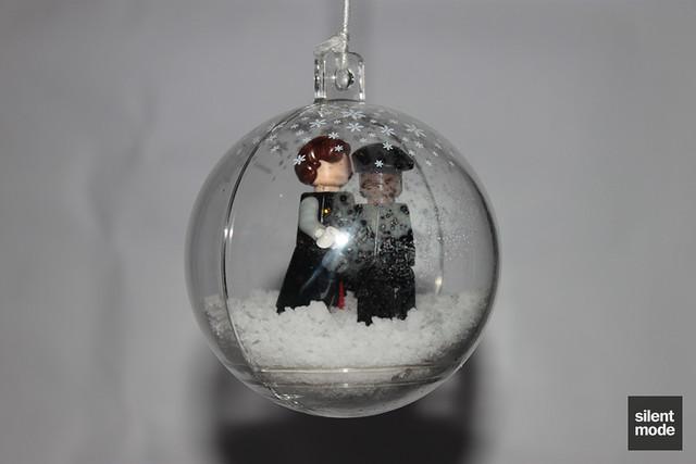 """True Love"" Christmas baubel"