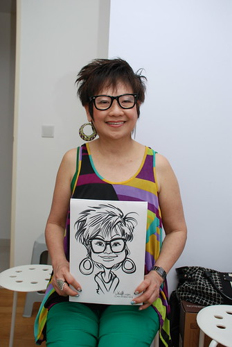 caricature live sketching for birthday party 10032012 - 8