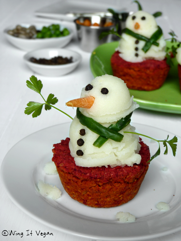 Mashed Potato Snowmen