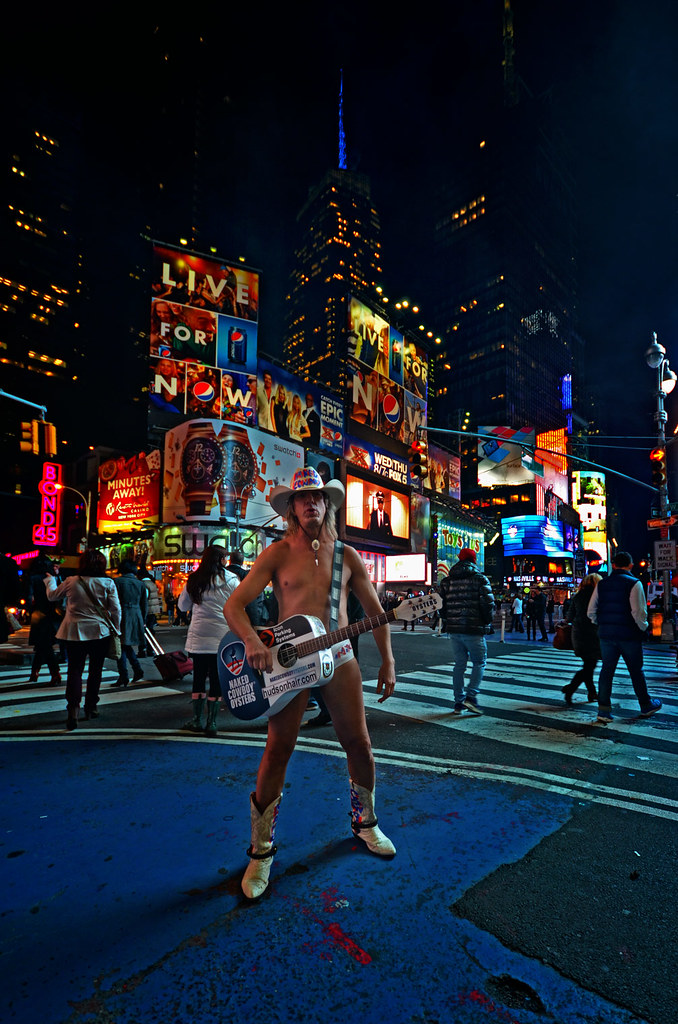 Cowboy en calzoncillos de Times Square